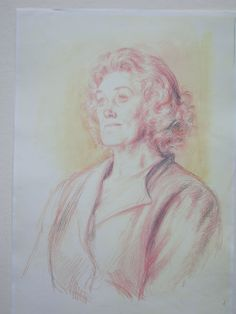 Order of Merit portrait drawing of Dame Joan Sutherland by Michael Stennett. Commissioned by HM Queen Elizabeth this portrait was executed at Chalet Monet. From its inception all members of the order have been recorded in a specially- -commissioned drawing.