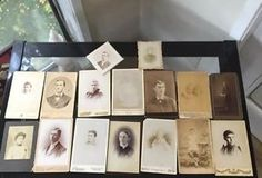 "Antique Photograph Cards 6.5"" 4.25""  Photography Pictures 1800s 1900s 16 CDVs"