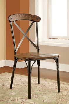 nelson industrial modern rustic cross back dining chairinspire