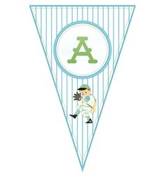 Free Printable Baseball Banner (complete alphabet and number set) - The Cottage Market