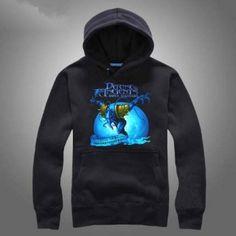 Darkterror fleece hoodie para homens Dota 2 herói moletom