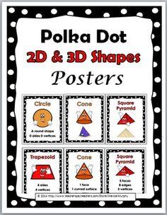 Polka Dot Theme 2D ad 3D Shapes Posters Set Polka Dot Classroom, Math Classroom, Kindergarten Math, Classroom Themes, Classroom Organization, All About Me Activities, Abc Activities, Polka Dot Theme, Polka Dots