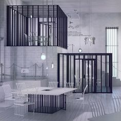 Poczekalnia restaurant imagined like a prison by Karina Wiciak