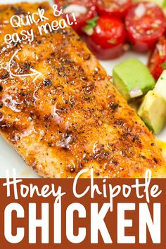 Easy and delicious Honey Chipotle Chicken tossed in a sweet and spicy honey chipotle sauce that is to die for! Easy Chicken Seasoning, Chicken Spices, Chicken Meals, Chipotle Chicken Marinade, Honey Chipotle Chicken, Chipotle Recipes, Healthy Recipes, Healthy Dinners, Healthy Eats