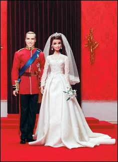 New 2012 Barbie   2012 Prince William & Catherine Gift Set  Designed by: Robert Best  This Royal Wedding® Gift Set includes exquisite portrait dolls of the bride and groom now bestowed with the titles, Duke and Duchess of Cambridge.   Your price: $150.00
