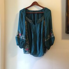 Nanette Lepore 100% silk Beautiful hand beaded & stitched blouse.. Authentic Nanette Lepore Tops Blouses