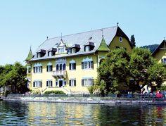 4 Star Hotel See-Villa - Millstatt on Lake Millstatt - Carinthia - Accommodation in Austria Carinthia, Villa, 4 Star Hotels, Celebrity Weddings, Austria, Castle, Mansions, Country, House Styles