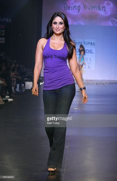 Kareena Kapoor during the 'Being Human' foundation show at day four of the HDIL Couture week in Mumbai on October 9, 2010.
