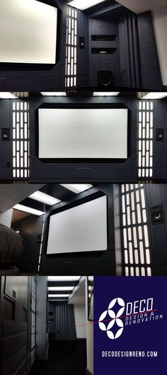 Awesome Star Wars, Death Star, basement, home theater!