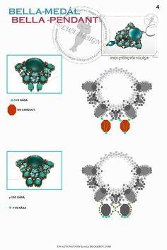 Bella pendant pattern 4
