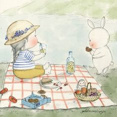 "1,313 curtidas, 31 comentários - 꼬닐리오. Coniglio (@conigliooooo) no Instagram: ""소풍 어디로 갔니? Where did you go for your picnic?☝️find out on my profile link. #picnic #summer…"""