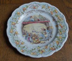 Brambly Hedge Crabapple cottage plate by MurrayandJoey on Etsy
