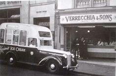 Austin 16 Ice Cream Van from Bristol. Mobile Catering, Food Vans, Ice Cream Van, Vintage Ice Cream, Commercial Vehicle, Classic Cars, Icecream, Bristol, Sons