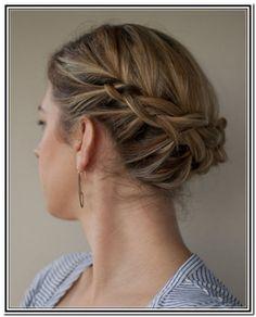 Side braid updo