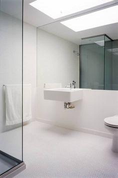 Apartment Barbican Modern White Bathroom Minimalist Contemporary Bathrooms