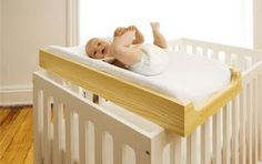 diy crib top changing table.   totally want this instead of actual table!