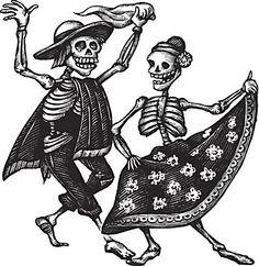 Espolon Tequila Packaging Illustrations by Steven Noble, via Behance Mexican Skulls, Mexican Folk Art, Espolon Tequila, Los Muertos Tattoo, Dancer Tattoo, Illustrations, Illustration Art, Skeleton Tattoos, Danse Macabre