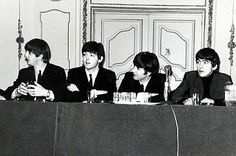 Today 2-10 in 1964, The Beatles give another press conference, this time from the lobby of New York's Plaza Hotel, where the group is staying.