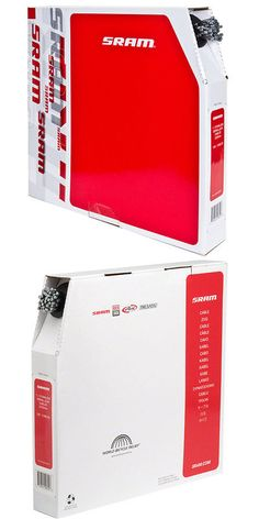 Filebox of 100 Brems-, Schaltzüge & Gehäuse fürs Fahrrad SRAM Stainless 2000mm Mountain Bike Brake Cables