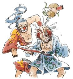 One Piece, Buggy the Clown, Shanks