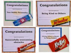 End of Year Candy Award Certificates - Middle and High School by Laura Torres Pre School Graduation Ideas, Preschool Graduation, School Ideas, Teacher Awards, Student Awards, End Of School Year, End Of Year, Sunday School, High School