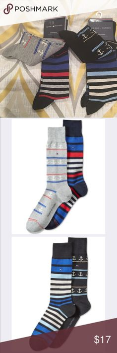 07de1e522 TOMMY HILFIGER SOCKS Set sail toward standout style with these 2 packs of  crew socks.