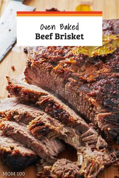 Baked Beef Brisket Oven Baked Beef Brisket / Can you make a Texas Style brisket in the oven? Try this recipe and see for yourself!Oven Baked Beef Brisket / Can you make a Texas Style brisket in the oven? Try this recipe and see for yourself! Oven Baked Brisket, Beef Brisket Recipes, Roast Brisket, Smoked Beef Brisket, Meat Recipes, Cooking Recipes, Cooking Brisket In Oven, Brisket In The Oven, Texas Brisket