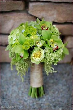 Shades of Green reception wedding flowers,  wedding decor, wedding flower centerpiece, wedding flower arrangement, add pic source on comment and we will update it. www.myfloweraffair.com can create this beautiful wedding flower look.