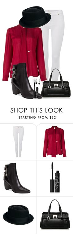 """""""Untitled #2"""" by aleaboo ❤ liked on Polyvore featuring 7 For All Mankind, Dsquared2, Yves Saint Laurent, NARS Cosmetics and ASOS"""