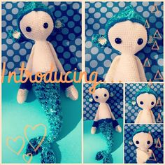 MICI mermaid / DIRK the dragon mod made by snizengreen / crochet patterns by lalylala