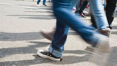 Photo about Blurred legs walking on concrete pavement. Image of people, adult, boot - 22507716 Walk On, Pretty, Braces, Mall, Healthy Living, Shape, School, Recipes, Healthy Life