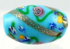 Rare Venetian bead, pristine condition #7050 Size: 19 x 13mm Date: Late 1800s - early 1900s Picard Museum