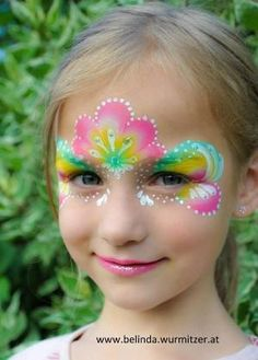 Gorgeous colour combo pretty princess #facepaint face painting ideas for kids by patsy