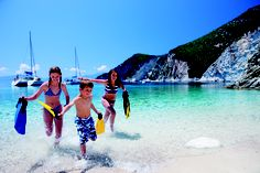 Beautiful coves to explore in Ionian, Greece. Sunsail Flotilla holiday.