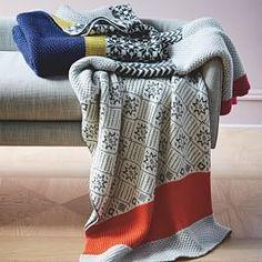 Fair Isle Colorblock Wool Throw