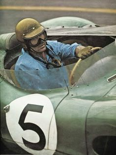 Carroll Shelby at Le Mans 1959 in an Aston Martin DBR1.