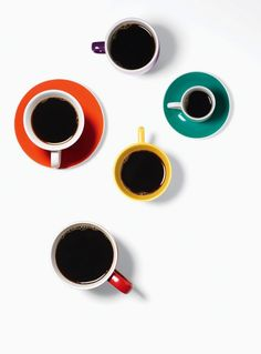 .Coffee cups array.