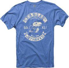 Kansas Jayhawks Heathered Royal Rockers Ring Spun T-Shirt