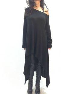 Grey One-Shoulder Asymmetrical Casual Dress