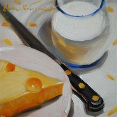 "Daily+Paintworks+-+""Making+Breakfast""+-+Original+Fine+Art+for+Sale+-+©+Elena+Katsyura"