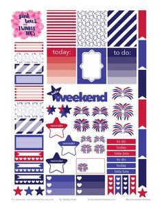 PBTT: Free Independence Day Sticker Sheet