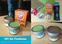 DIY Air Freshener Using Downy Unstopables Have a spot that smells like stinky feet instead of fresh sheets? Create this compact DIY Air Freshener Using Downy Unstopables to eliminate odors instantly House Smell Good, House Smells, Diy Cleaners, Cleaners Homemade, House Cleaning Tips, Diy Cleaning Products, Car Cleaning Hacks, Car Hacks, Cleaning Supplies