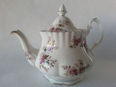 "Royal Albert Lavender Rose Tea Pot, 5-1/8"", 5 cup. $150.00 at 2015bobcat1 on ebay, 2/26/16"