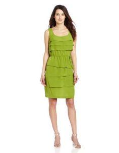 Gabby Skye Women's Petite Tiered Ruffle Dress,