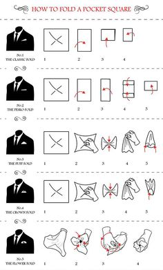 5 creative ways to fold a pocket square