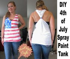 DIY Fourth of July Spray Paint Tank Top