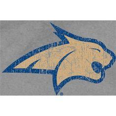 Montana State Bobcats Youth Ash Distressed Logo Vintage T-shirt Seth