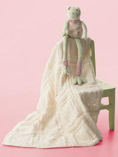 Heart Dishcloth / Blanket | Yarn | Free Knitting Patterns | Crochet Patterns | Yarnspirations