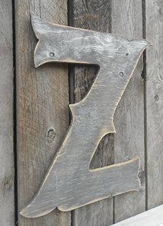 "22"" X-Large Western Style Letter ""Z"" Shabby Chic Rustic Wooden Charcoal & Silver- A B C D E F G H I J K L M N O P Q R S T U V W X Y Z. 22"" X-Large Western Style Letter ""Z"" Shabby Chic Rustic. Character is approximately 22"" tall. Cut out of 1/2"" ply, painted and distressed. We can cut any letter in any font just ask...we are quick... This is meant for inside or covered porch use but we can add a sealer for free which will increase the outdoor longevity if that is what you want. They are…"