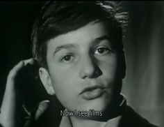 Jean Pierre Léaud at the 1959 Cannes Film Festival for 400 Blows